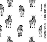 zebra pattern  illustration ... | Shutterstock . vector #1189105606