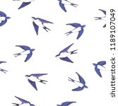 swallow pattern  illustration | Shutterstock . vector #1189107049