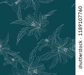 seamless floral pattern.... | Shutterstock .eps vector #1189107760