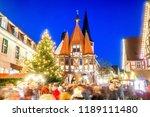 michelstadt  christmas market ... | Shutterstock . vector #1189111480