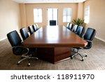 business meeting room in office ... | Shutterstock . vector #118911970