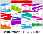 year 2019 vector monthly modern ... | Shutterstock .eps vector #1189121380