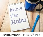 know the rules  business... | Shutterstock . vector #1189124440