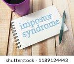 impostor syndrome  mental... | Shutterstock . vector #1189124443