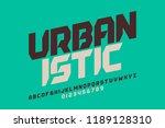 urbanism style font design ... | Shutterstock .eps vector #1189128310