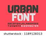urbanism style font design ... | Shutterstock .eps vector #1189128313