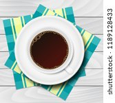 cup of coffee with checkered... | Shutterstock .eps vector #1189128433