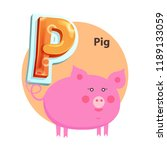 pig plump character is for p... | Shutterstock .eps vector #1189133059