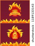 advertising icons in flame ... | Shutterstock .eps vector #1189133143