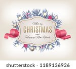 merry christmas and new year...   Shutterstock .eps vector #1189136926