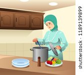 a vector illustration of muslim ...   Shutterstock .eps vector #1189139899