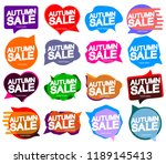 set autumn sale  speech bubble... | Shutterstock .eps vector #1189145413