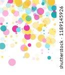 memphis round confetti flying... | Shutterstock .eps vector #1189145926