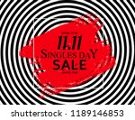 november 11 singles day sale.... | Shutterstock .eps vector #1189146853