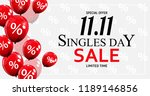 november 11 singles day sale.... | Shutterstock .eps vector #1189146856