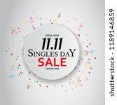november 11 singles day sale.... | Shutterstock .eps vector #1189146859