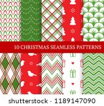 ten christmas different... | Shutterstock .eps vector #1189147090