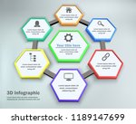 6 options  3d infographic with...   Shutterstock .eps vector #1189147699