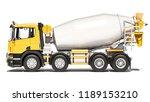 side view of cement mixer 3d... | Shutterstock . vector #1189153210