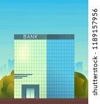 bank scyscraper building.... | Shutterstock .eps vector #1189157956
