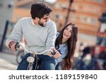 picture of a happy couple... | Shutterstock . vector #1189159840