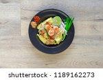 pad thai noodles | Shutterstock . vector #1189162273