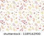 autumn pattern of leaves and... | Shutterstock . vector #1189162900