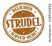 delicious strudel sign or stamp ... | Shutterstock .eps vector #1189163656
