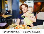 woman with little girl in... | Shutterstock . vector #1189163686