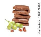 chocolate with raisins. vector... | Shutterstock .eps vector #1189168900