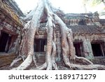 an old temple in cambodia full...   Shutterstock . vector #1189171279