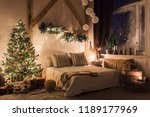 warm and cozy evening in living ... | Shutterstock . vector #1189177969