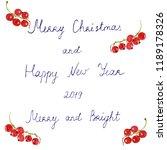 set of handwritten merry... | Shutterstock . vector #1189178326