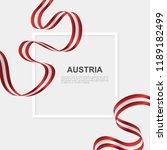 celebrate austria national day... | Shutterstock .eps vector #1189182499