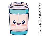 kawaii coffee cup icon | Shutterstock .eps vector #1189185256