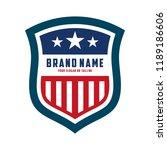 creative logo design american... | Shutterstock .eps vector #1189186606