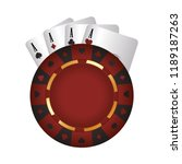 casino poker chip aces card suit | Shutterstock .eps vector #1189187263