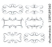 vector flourish frames set ... | Shutterstock .eps vector #1189189360