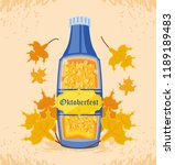bottle beer oktoberfest... | Shutterstock .eps vector #1189189483