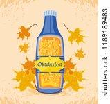 bottle beer oktoberfest... | Shutterstock .eps vector #1189189483