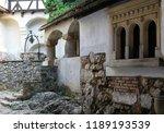 courtyard of bran castle ...   Shutterstock . vector #1189193539