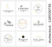 floral logo templates. vector... | Shutterstock .eps vector #1189200730