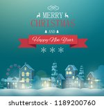merry christmas and happy new... | Shutterstock .eps vector #1189200760