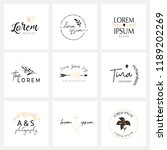 beautiful logo collection.... | Shutterstock .eps vector #1189202269