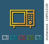 microwave line icon  filled... | Shutterstock .eps vector #1189212130