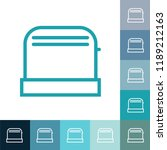 toaster line icon  filled... | Shutterstock .eps vector #1189212163