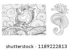 coloring page set. adult... | Shutterstock .eps vector #1189222813