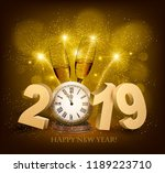 happy new year background with... | Shutterstock .eps vector #1189223710