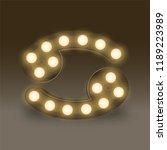 cancer zodiac sign incandescent ... | Shutterstock .eps vector #1189223989