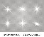 white glowing light explodes on ... | Shutterstock .eps vector #1189229863
